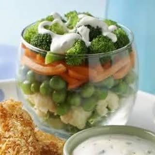 Hidden Valley Ranch Layered Vegetable Salad.