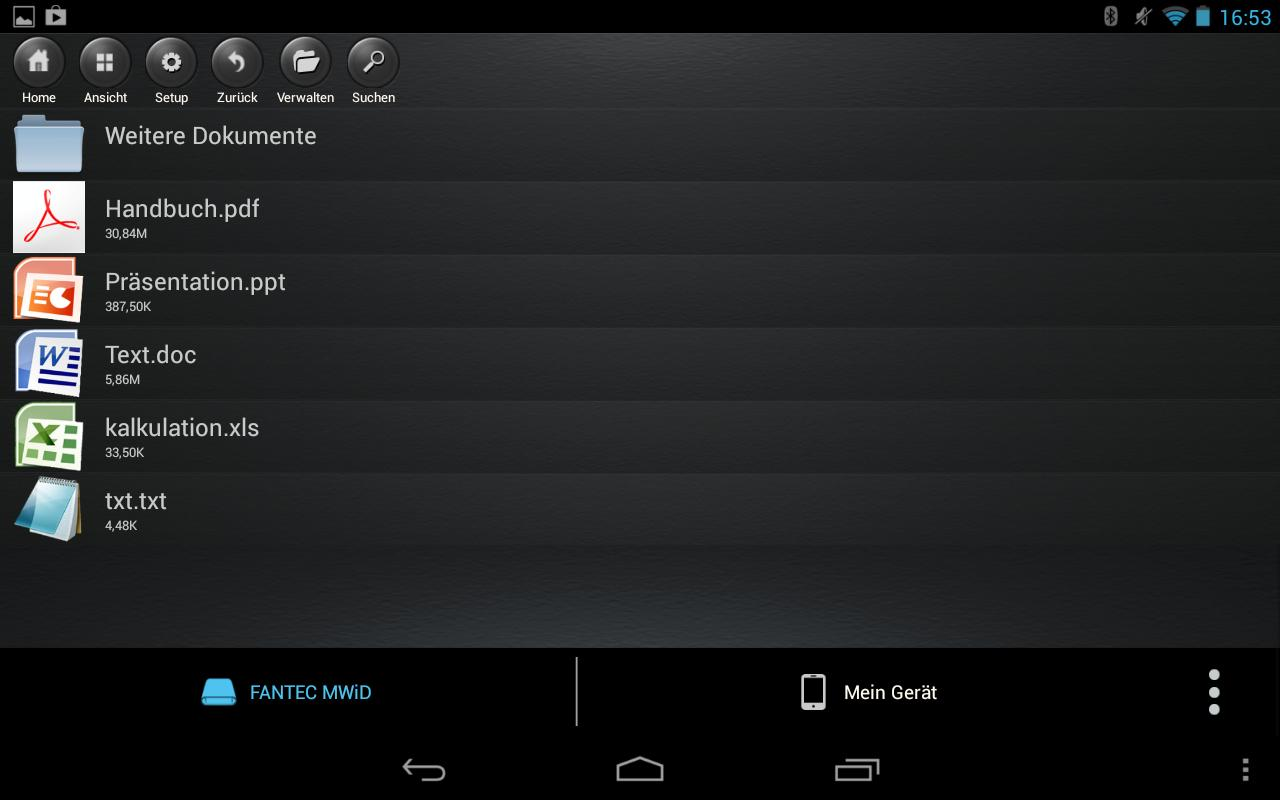 FANTEC MWiD25 Mobile WiFi DisK - screenshot