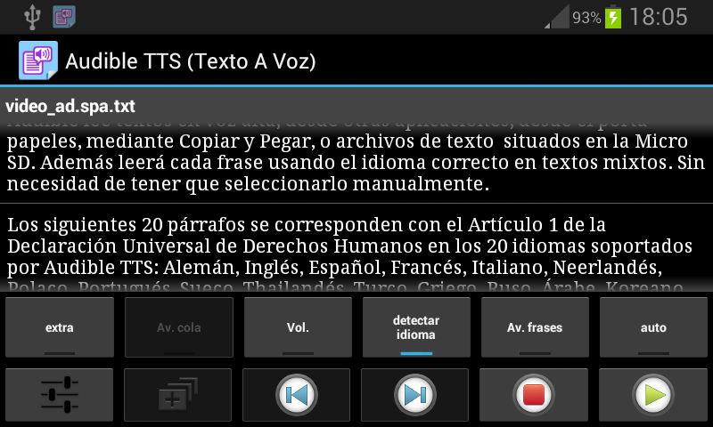TalkText (Texto A Voz) Clasico: captura de pantalla