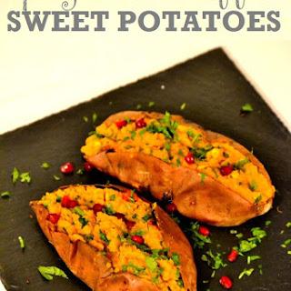 Spicy Dhal-Stuffed Sweet Potatoes Recipe
