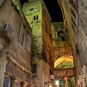 under the tower by Joško Tomić - City,  Street & Park  Street Scenes