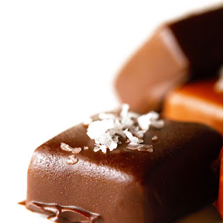 Chocolate Dipped Microwave Caramels