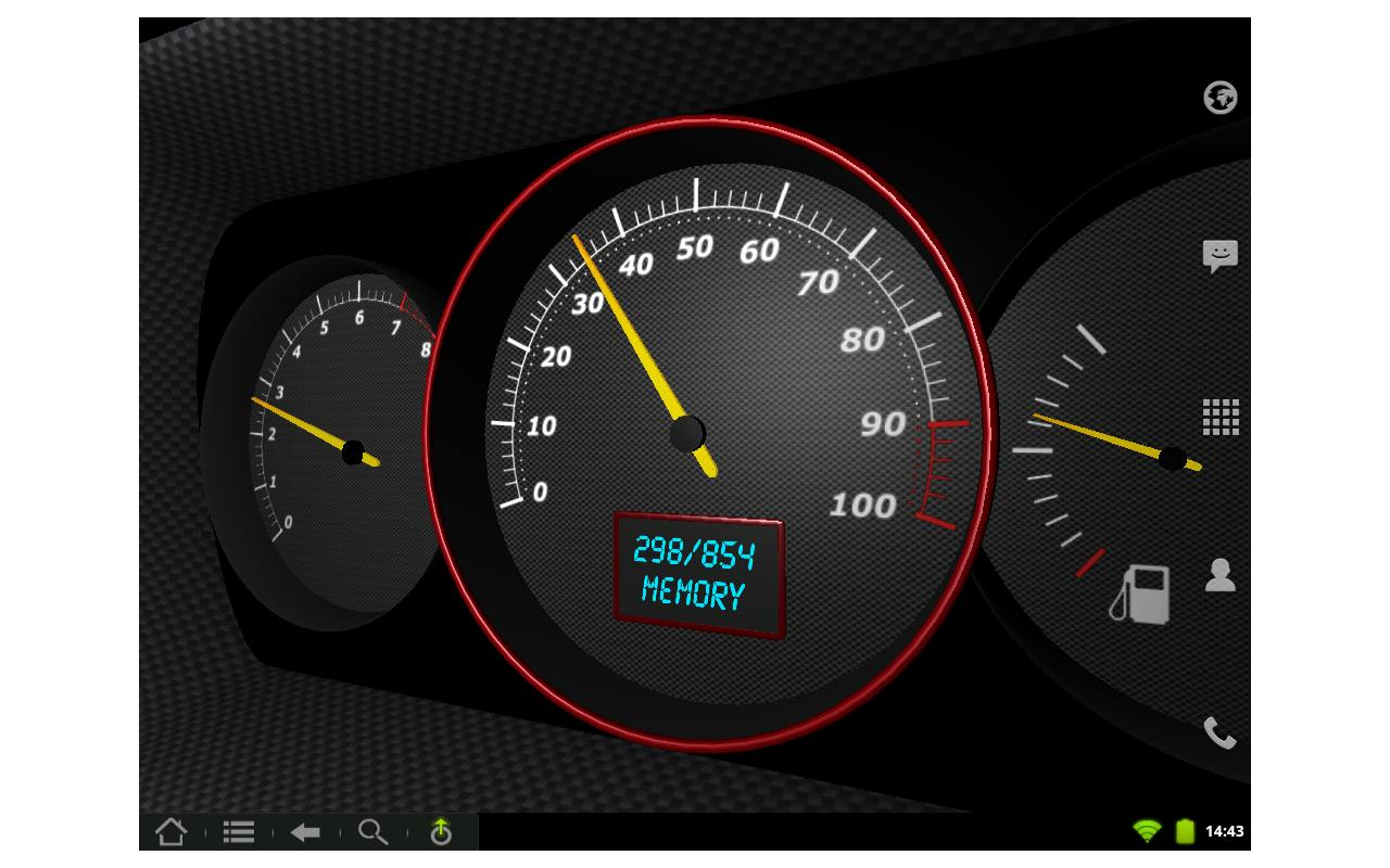 3D Speedometer Live Wallpaper- screenshot