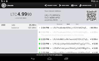 Screenshot of Litecoin Wallet