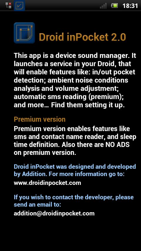 Droid inPocket Free - screenshot