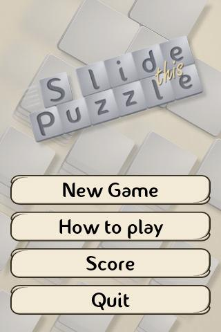 Slide This Puzzle - screenshot