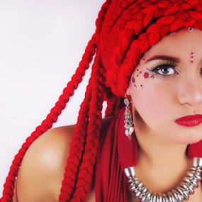 RED Goddess 1 by William Ay-Ay - People Portraits of Women