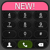 exDialer A-Black Leather theme