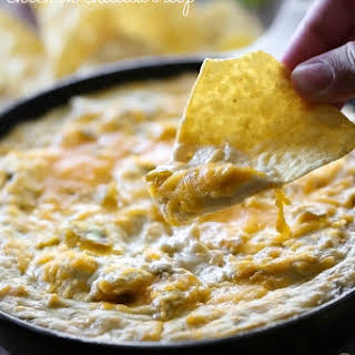 Chile Verde Chicken Cheddar Dip.