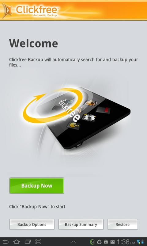 Clickfree Mobile Backup - screenshot