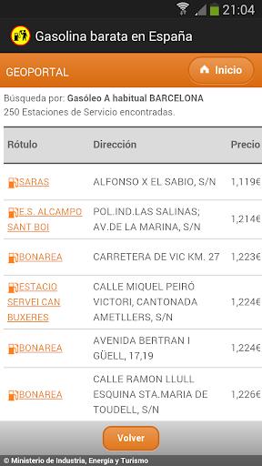 玩免費交通運輸APP|下載在西班牙低成本汽油 app不用錢|硬是要APP