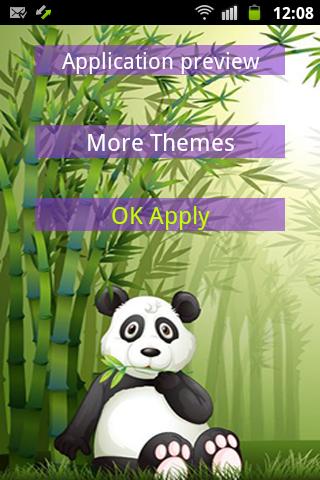 GO鍵盤熊貓竹子主題
