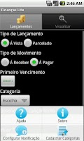 Screenshot of Finanças Lite