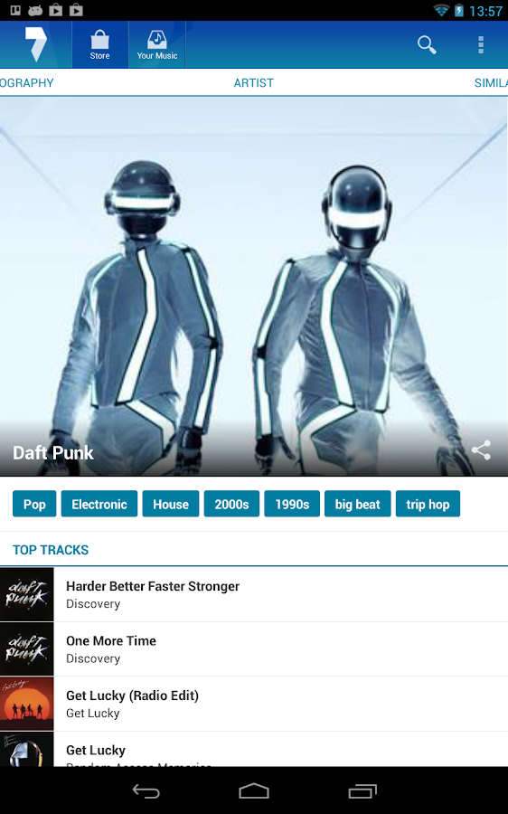 7digital Music Store- screenshot