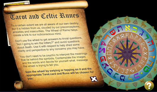 Wheel of Rame tarot and runes
