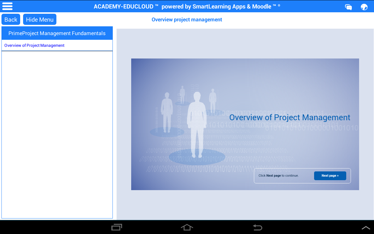 Mobile Learning & Training- screenshot