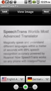 SpeechTrans Ultimate by Nuance - screenshot thumbnail