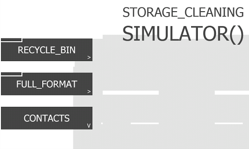 Storage Cleaning Simulator