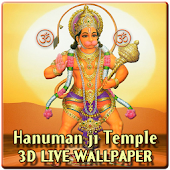 Lord Hanuman 3D Temple LWP