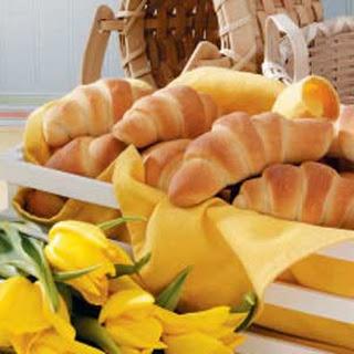 Golden Buttery Crescent Rolls.