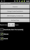 Screenshot of Emergency Alert