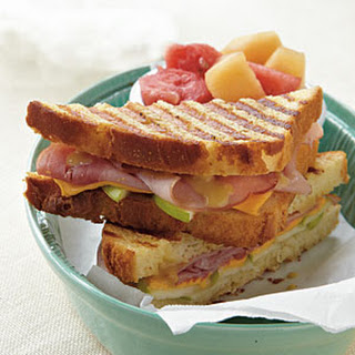 Ham, Cheese, and Apple Panini.