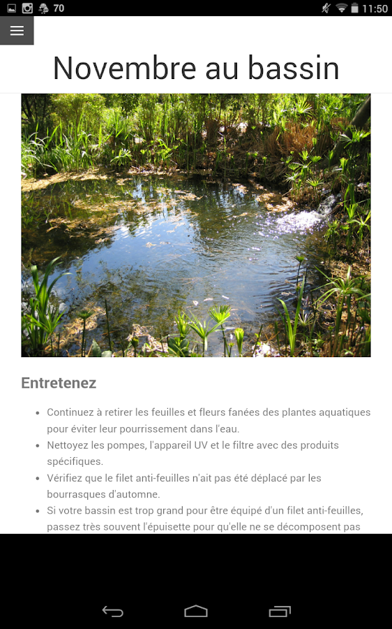 Calendrier du jardin android apps on google play for Calendrier travaux jardin
