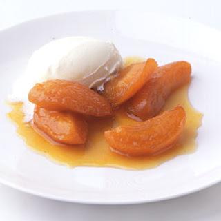 Apricots in Caramel Cognac Sauce