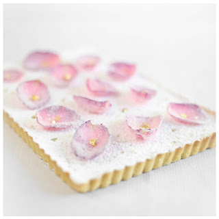 White Chocolate Rose Water Tart.