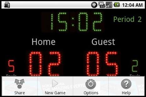 Scoreboard Futsal ++- screenshot