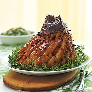 Mustard and Molasses Glazed Ham.