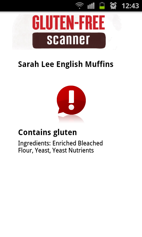 The Gluten Free Scanner · PRO - screenshot