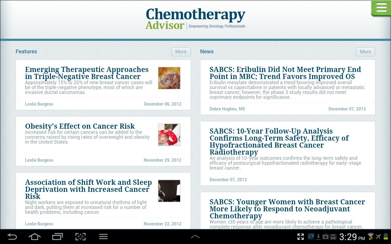 Chemotherapy Advisor - screenshot