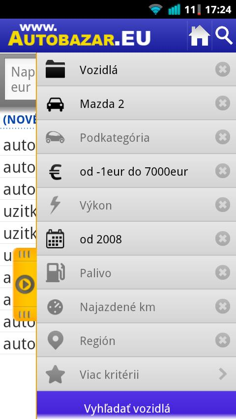 Autobazar EU - screenshot