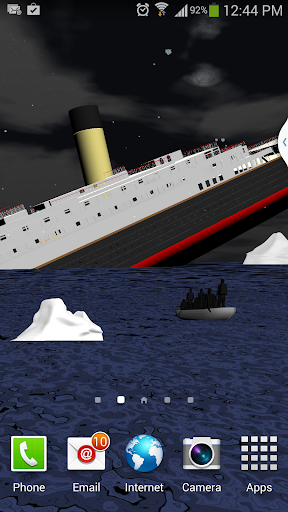 Titanic livewallpaper 3d free
