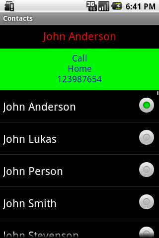Contacts- screenshot