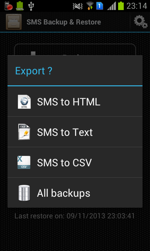 SMS Backup & Restore - screenshot