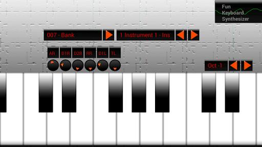 有趣的鍵盤和鋼琴合成器