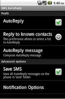 Screenshot of SMS AutoReply