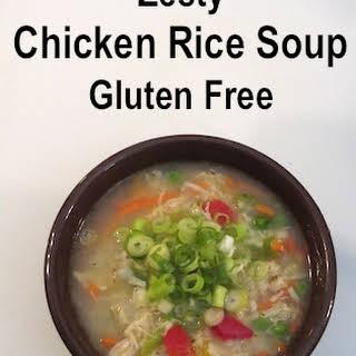 Zesty Chicken Rice Soup, Gluten Free.
