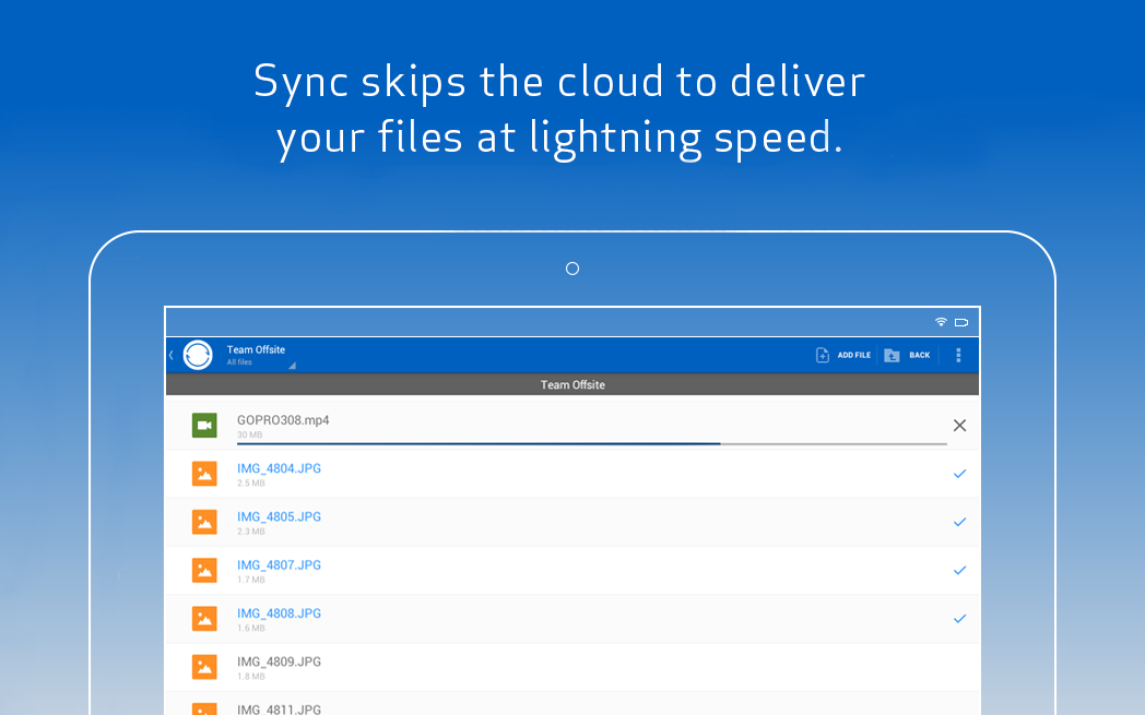 Sync - screenshot