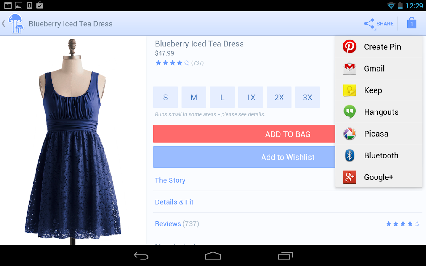 ModCloth - screenshot