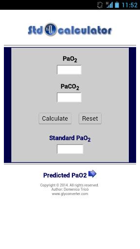 Standard PaO2 Calculator