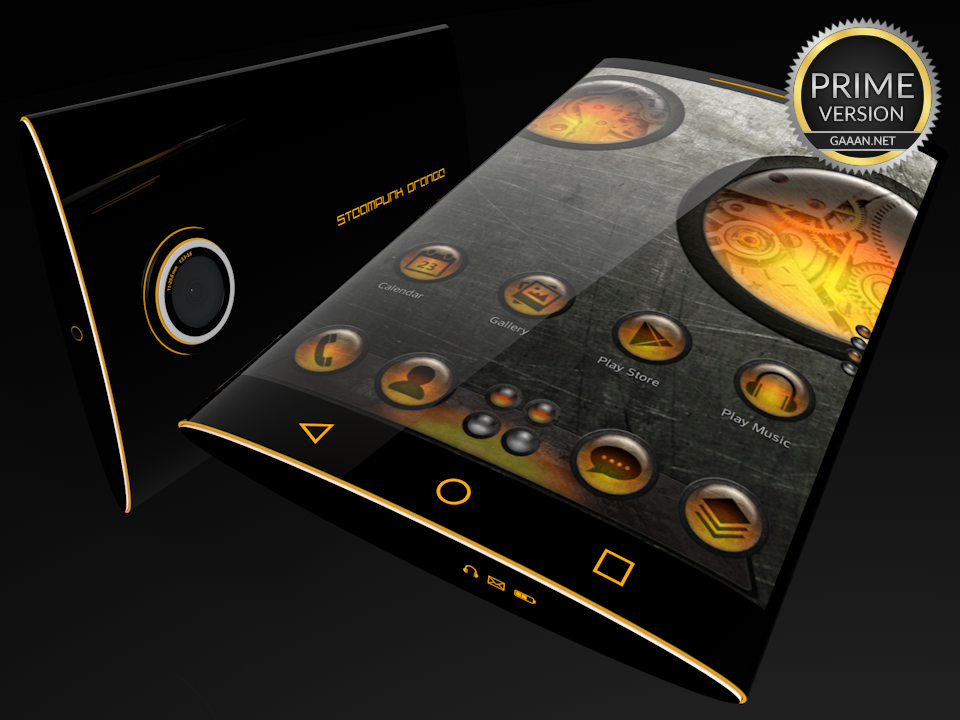 Steampunk Orange - Next Theme- screenshot
