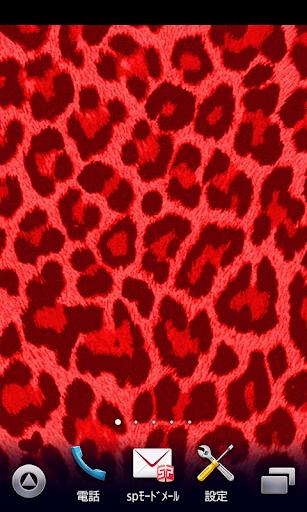 红色豹纹墙纸