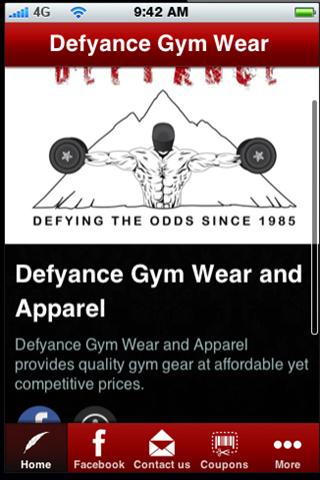 Defyance Gym Wear and Apparel
