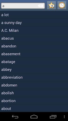 English Neapolitan Dictionary
