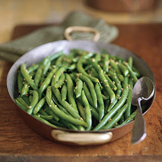 Green Beans with Honey-Mustard Glaze.
