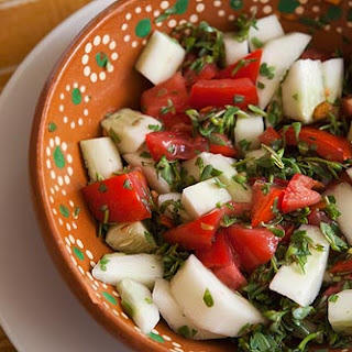 Tomato, Cucumber, Purslane Salad Recipe