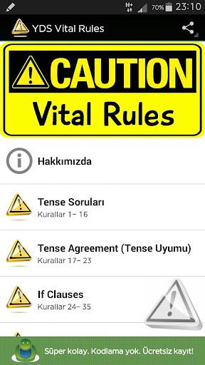 YDS VITAL RULES